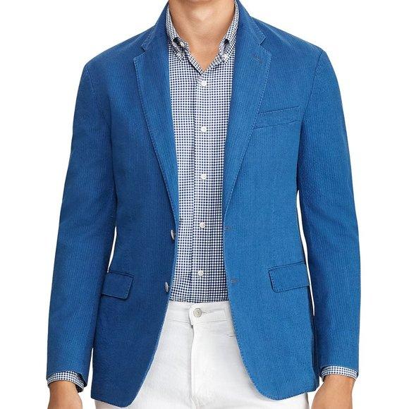 Polo by Ralph Lauren Other - Polo Ralph Lauren Mens Sportscoat Blue Seersuck Mo